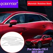Accessoire paillettes de décoration extérieure pour Mazda 2017-2019   Style de voiture, garniture complète de vitres, accessoire de voiture pour Mazda