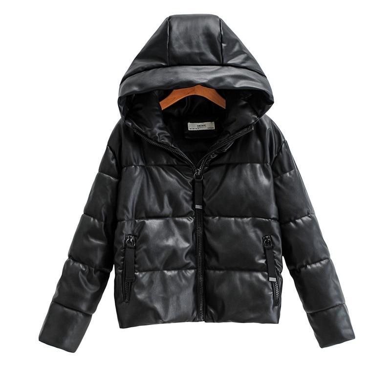 Moda feminina wadded jaqueta 2020 streetwear senhora quente grosso jaquetas causal feminino falso couro parka meninas chique outercoat
