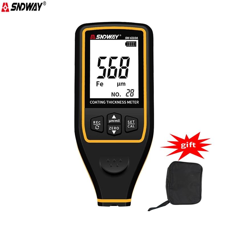 Sndway SW-6310A المهنية قياس سمك الطلاء من السيارات طلاء السيارات تستر طلاء سمك مقياس متر السيارات الطلاء لي