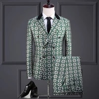 spring fashion mens suit double breasted robe suit wedding bridegroom master of ceremonies host stage performance dress suit