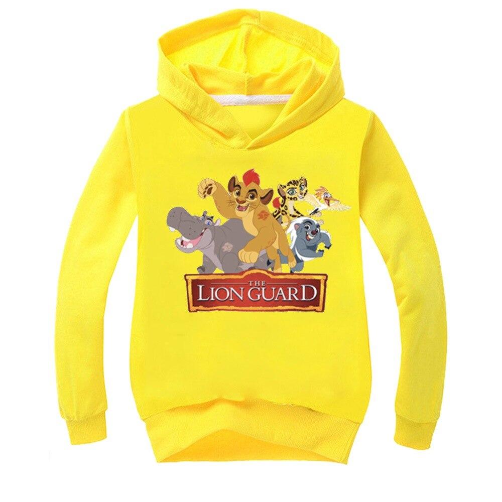 Crianças hoodie com capuz leão rei manga longa esportes hoodies camisolas menino meninas dos desenhos animados bonito o simba impressão moletom com capuz crianças pulôver