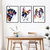 creative dog portrait posters cute animal print dog canvas painting home wall art decorative painting pictures