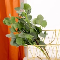 artificial leaves branch retro plastic green plants fake apple leaves diy wedding shooting prop home forest style decoration