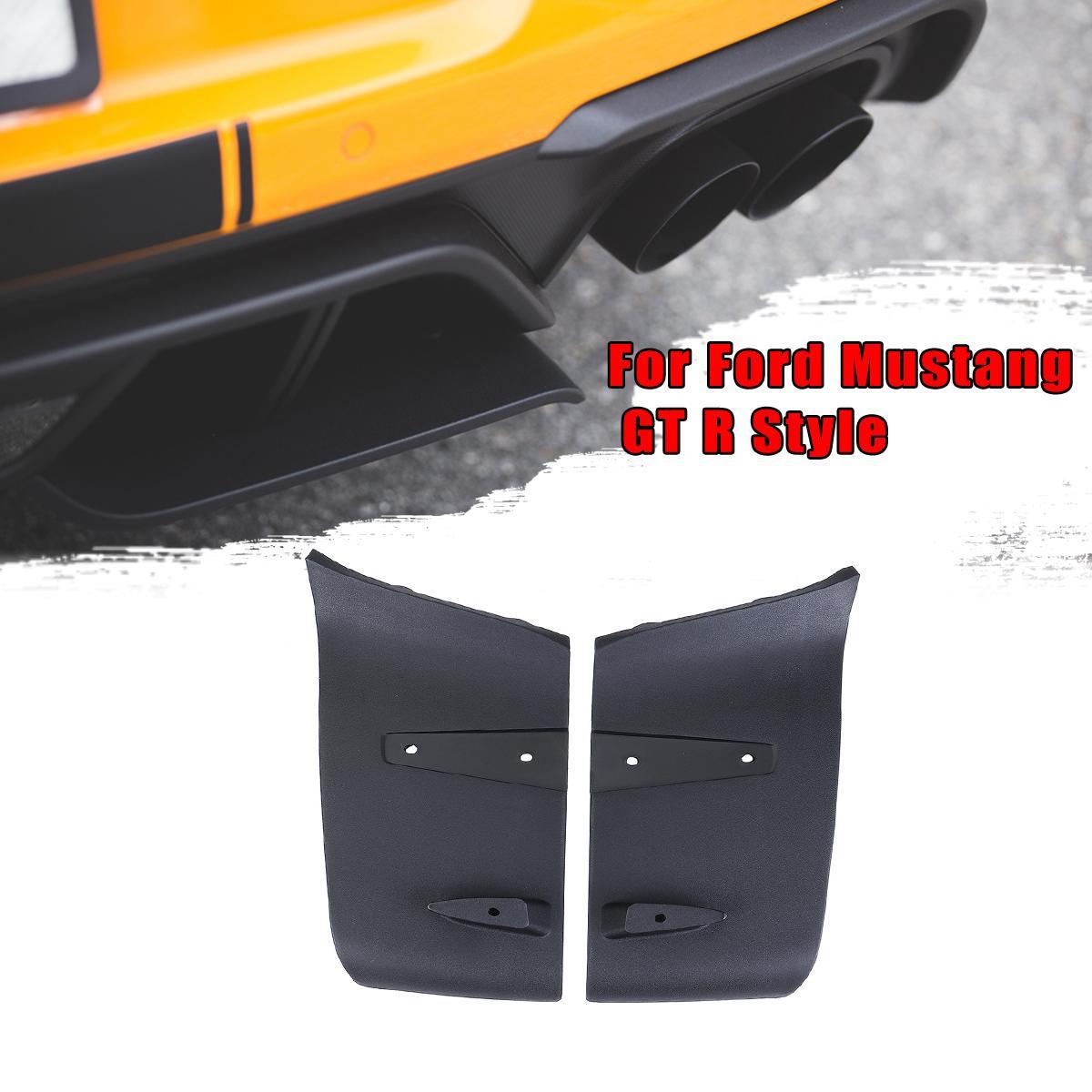 1 par ABS parachoques trasero difusor Valance Foil Kit para Ford para Mustang 2018-2019 GT R Style