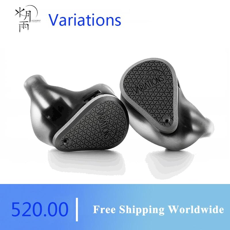 MoonDrop الاختلافات 2021 الرائد سماعات أذن داخل الأذن 2EST + 2BA + DD سماعات أذن Tribrid IEMs مع كابل قابل للفصل