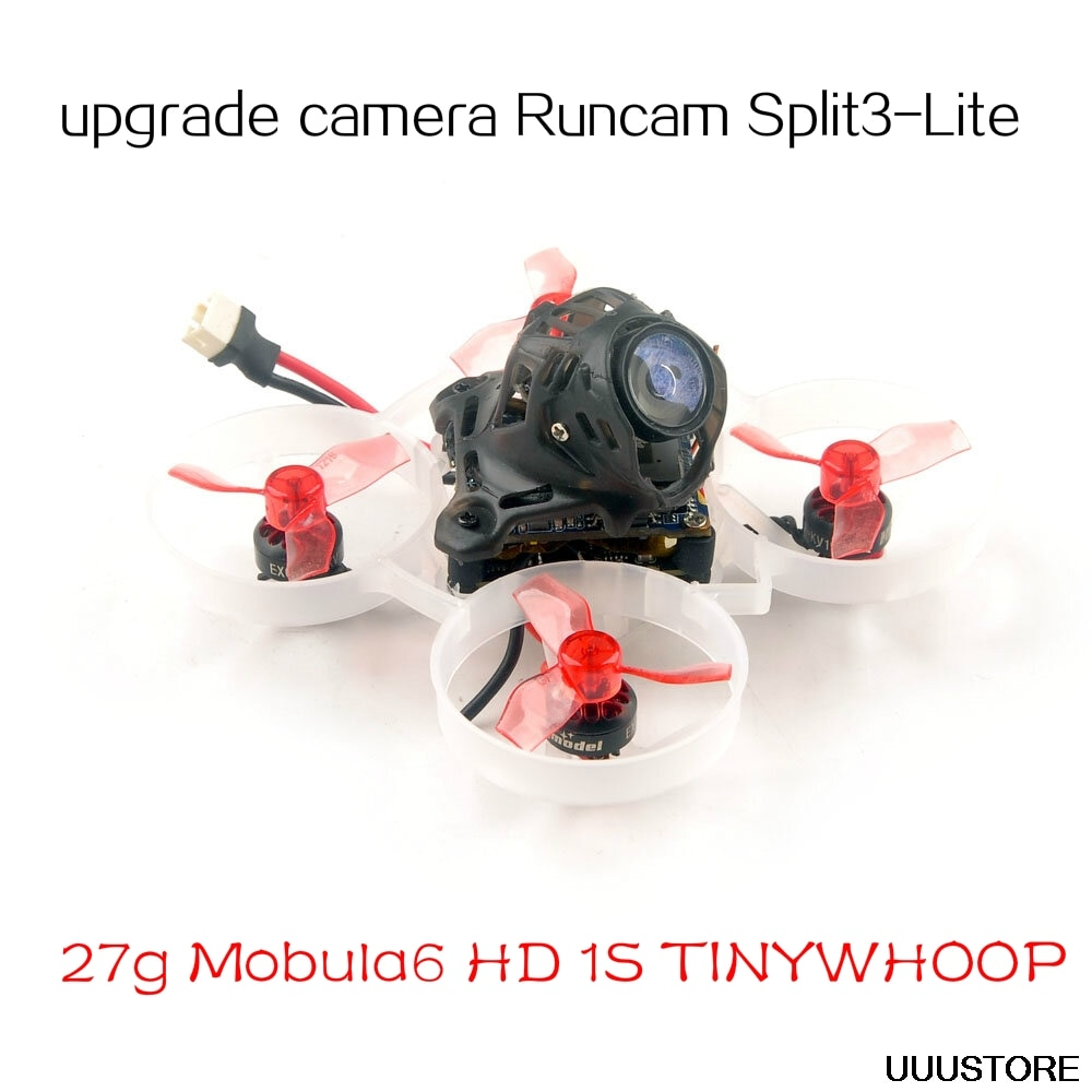 Happymodel Mobula6 HD Runcam Split3-Lite 1080P DVR 65 مللي متر كرازي بي F4 لايت 1S Whoop FPV سباق بدون طيار FRSKY/FLYSKY/TBS BNF لتقوم بها بنفسك اللعب