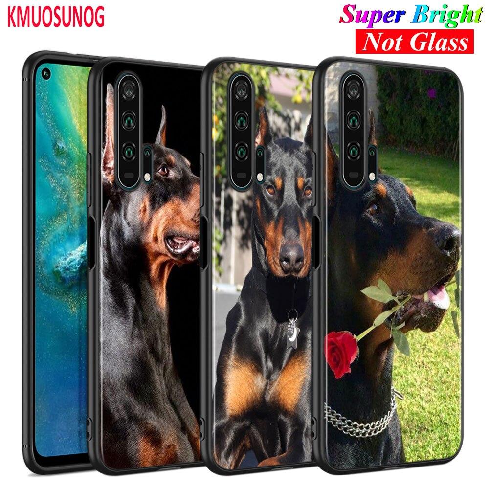 Capa de silicone preto doberman cão para huawei honor 10i 9x8x20 10 9 lite 8 8a 7a 7c pro lite caso de telefone