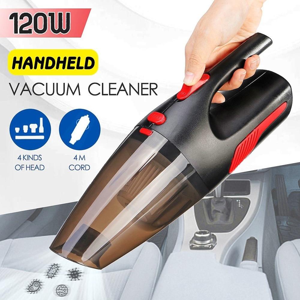 Aspiradora portátil de mano sin cable/enchufe de coche 120W 12V 5000PA supersucción aspiradora húmeda/seca para el hogar del coche