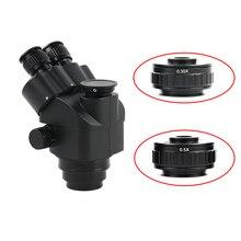 CTV 0.35X/0.5X 초점 조정 가능한 C 마운트 어댑터 링 M38 38mm 새로운 유형의 Trinocular 스테레오 현미경 세트