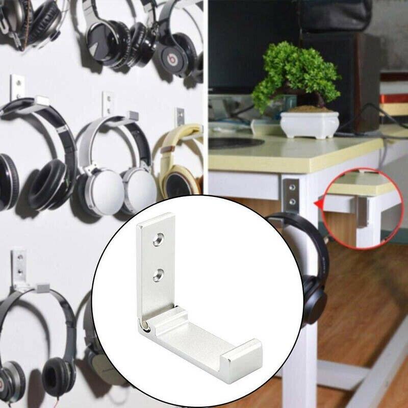 Colgador de pared para auriculares soporte de gancho plegable aleación de aluminio soporte en forma de L soporte de instalación Eazy soporte de pared para auriculares TXTB