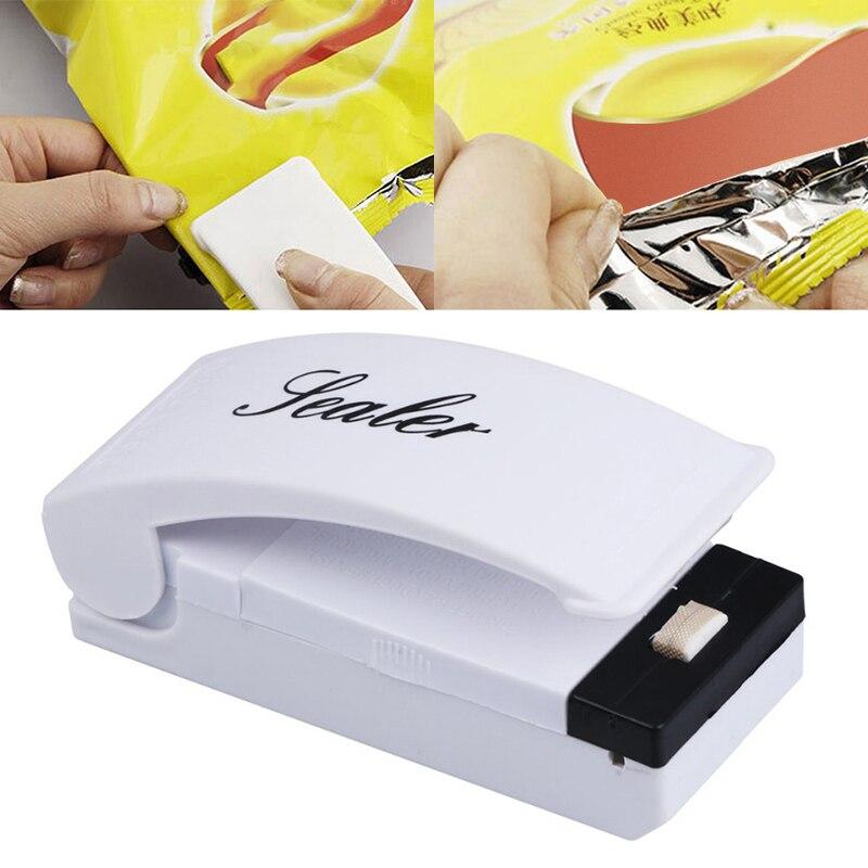 Mini máquina de sellado térmico portátil, sellador del paquete de bolsas de alimentos, herramienta de sellado de Capper, Clips para bolsa, utensilios de cocina multifunción para el hogar