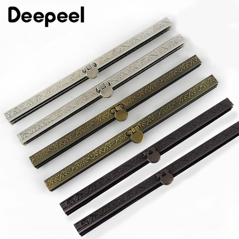 5PCS Deepeel 19cm Metal Embossed Purse Frame Bag Lock Clutch Coin Bags Clasp Sewing Hardware Wallet Accessories HandBag Parts