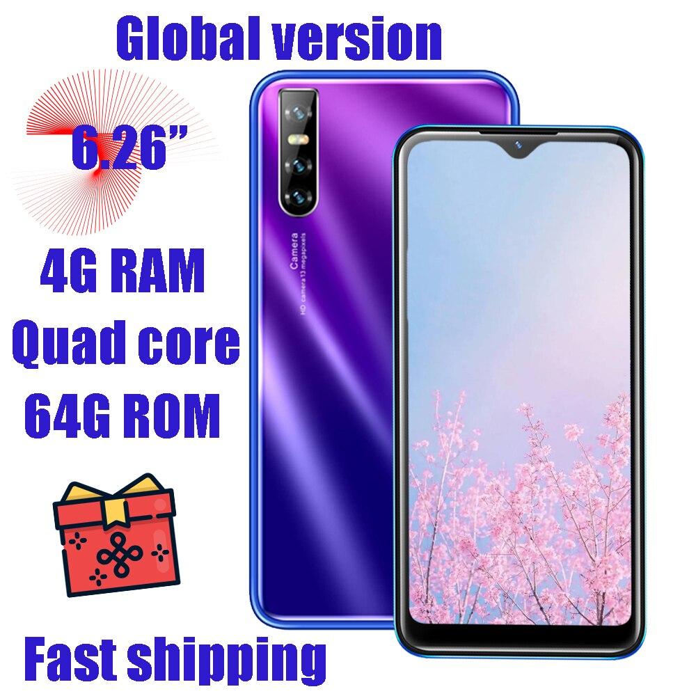 4G RAM الوجه معرف هاتف محمول Y6P الهواتف الذكية الأصلي مقفلة 6.26