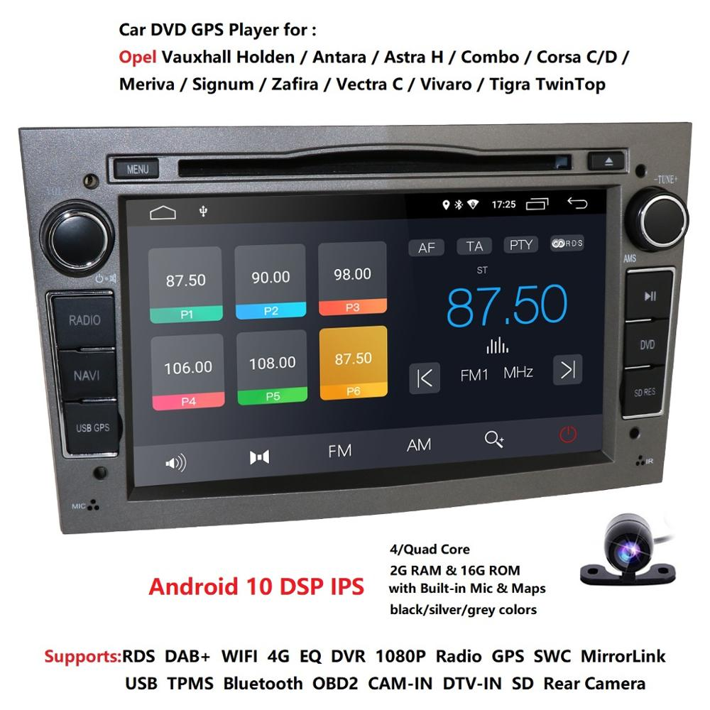 "2 Din QuadCore 7 ""Android10.0 reproductor de Radio y DVD para el coche para Opel Astra Vectra Antara Zafira Corsa GPS Navi 4GWifi estéreo de coche swc dsp"
