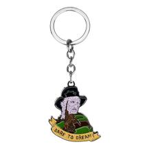Cartoon Figure Pendant Keychain Key Rings Music Dare To Dream Key Holder Chaverios Men Key Accessories Trinkets