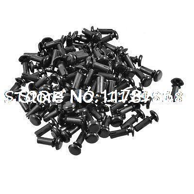 Clips de nailon de 100 Uds. PCB 10,0mm de altura, remaches negros