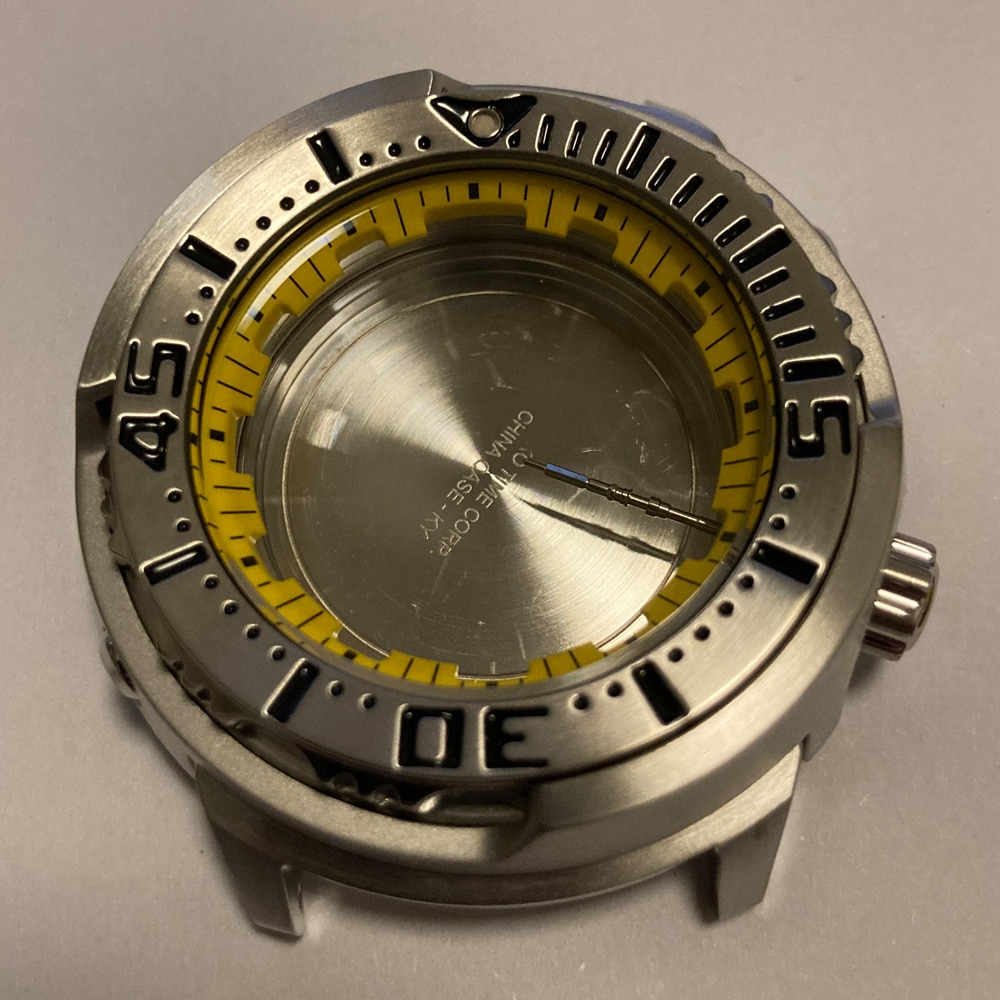 Watch Parts Mineral Glass Stainless Steel 48mm Tuna Case 200M Water Resistance SRP Case Fit 4R36 Movement enlarge