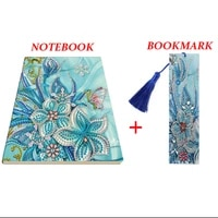 diy butterfly flowers special shaped diamond painting notebook bookmark a5 sketchbook notebook diy rhinestone craft gift