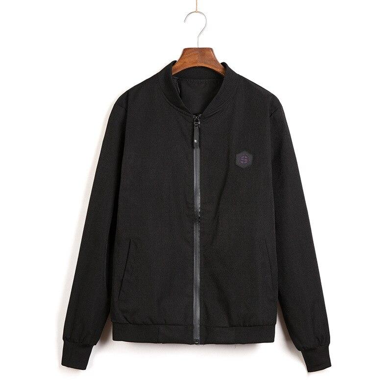Куртка мужская с воротником-стойкой, свободная молодежная одежда, пиджак, весна-осень