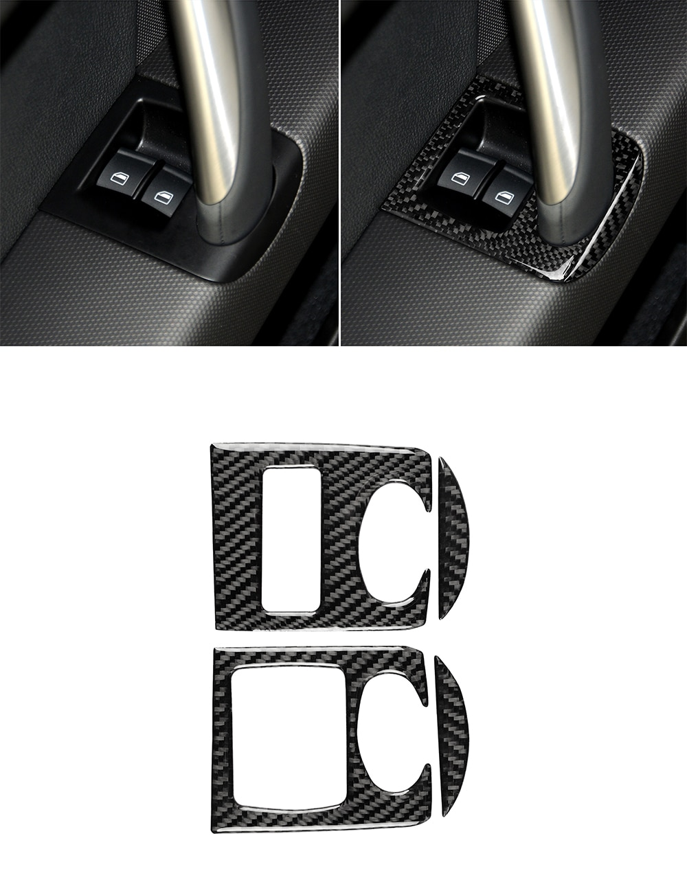 Carbon fiber Car Window Lifter Button Panel Decorative Cover for 2008-2014 Audi TT 8n 8J MK123 TTRS