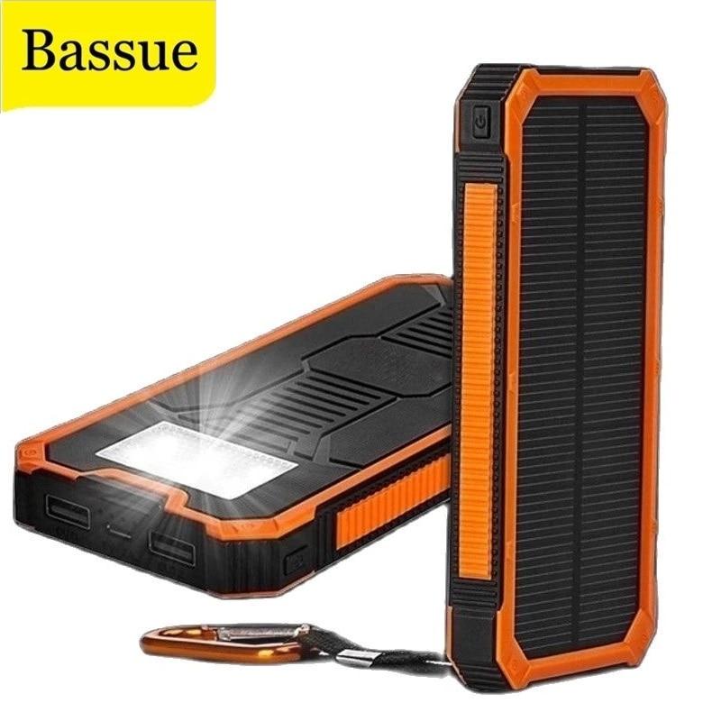 Huge Capacity Solar Power Bank 80000mAh Dual-USB Waterproof Solar Power Bank Battery Charger For All Phone Iphone Huawei Xiaomi