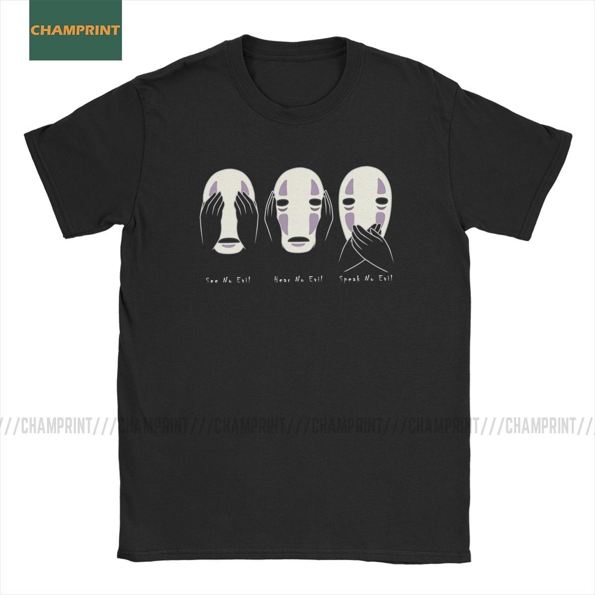 Camisetas para hombre Ghibli Haku Totoro Manga Miyazaki Hayao, camiseta de Manga corta de algodón de talla grande