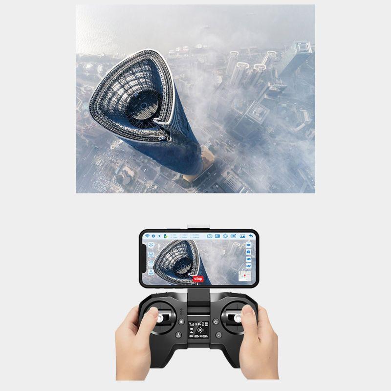 Ótico de Wifi Fpv do Ângulo da Câmera do Drone 4k de Xs818 Gps com Fluxo Zangões Duplos Dobrável Xxuc