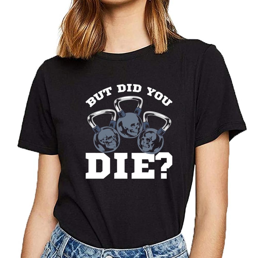 Camisetas divertidas para mujer, ejercicio, gimnasio, fitness, kettlebell, entrenamiento, Kawaii, Camisetas estampadas para mujer