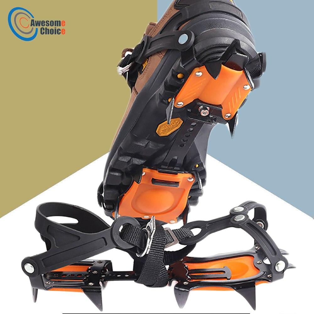 أحذية غير قابلة للانزلاق مع 10 مخالب أسنان ، قابض ثلج قابل للتعديل ، جودة عالية ، للتزلج في الهواء الطلق ، التنزه على الجليد ، التسلق