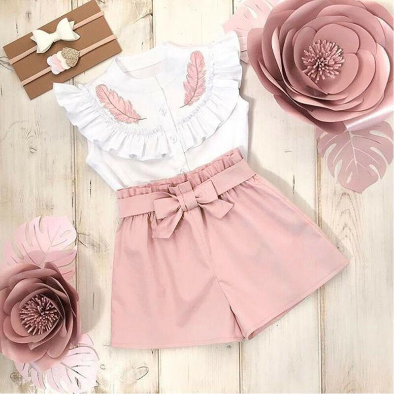 AliExpress - Fashion Toddler Kid Baby Girl Summer Button Tops Shirt Short Pants Outfit Set Clothes 2PCS