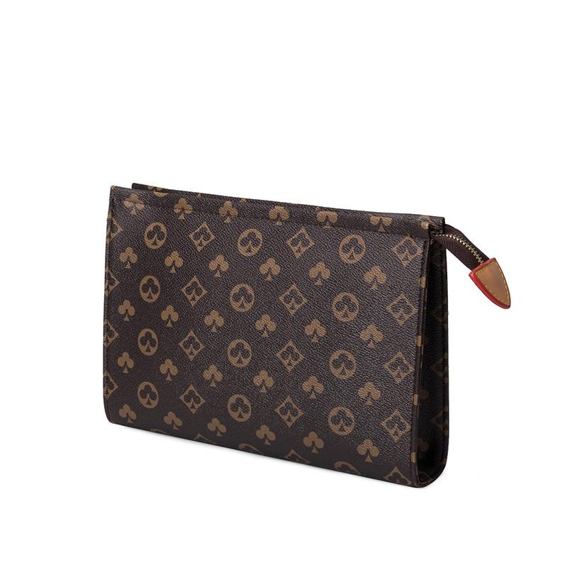 Мужской деловой вместительный клатч, простой клатч на молнии, модный мужской точечный роскошный бумажник