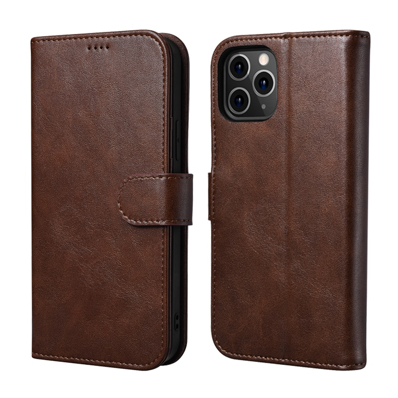 Премиум кожаный чехол-кошелек для iPhone 12/ 12 Pro/ 12 mini/ 12 Pro Max с держателем для карт, Магнитный флип-чехол-подставка, чехол, сумка