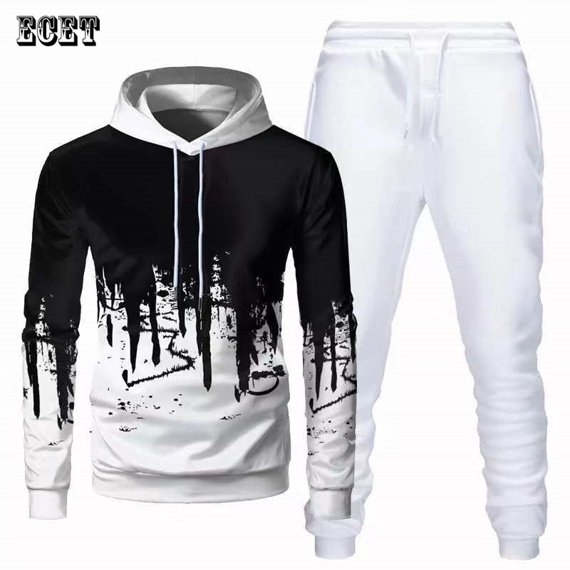 Уличная мода, мужские костюмы, повседневная мужская одежда, джоггеры, брендовый пуловер, толстовки, мужские брюки, модная спортивная одежда