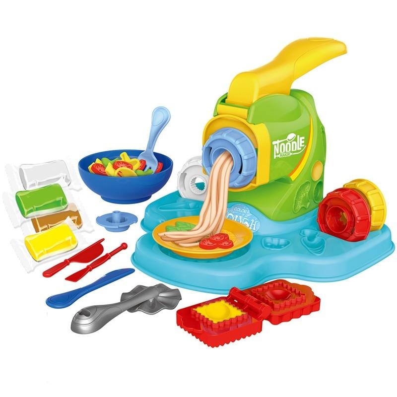 Детские игрушки для приготовления пищи, тестовая игра, пластиковая машинка для лапши, детские игрушки, комплект для ролевых игр, развивающи...