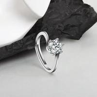 jewelry proposal ring simulation diamond ten hearts ten arrows ring fashion six claw female ring wedding jewelry girl gifts