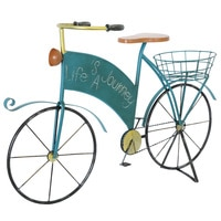 Wrought Iron Do Old Blue Bike Flower Garden Landscape Garden Decorations Grocery Furnishing Articles