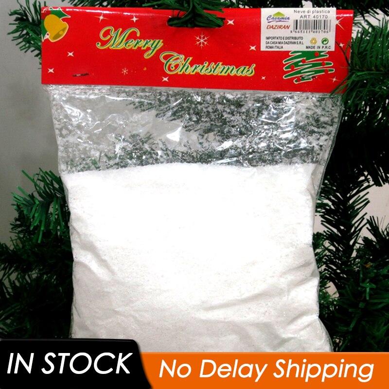 1 pc artificial floco de neve em pó árvore de natal decorações de neve branca festa prop decoração de festa de natal