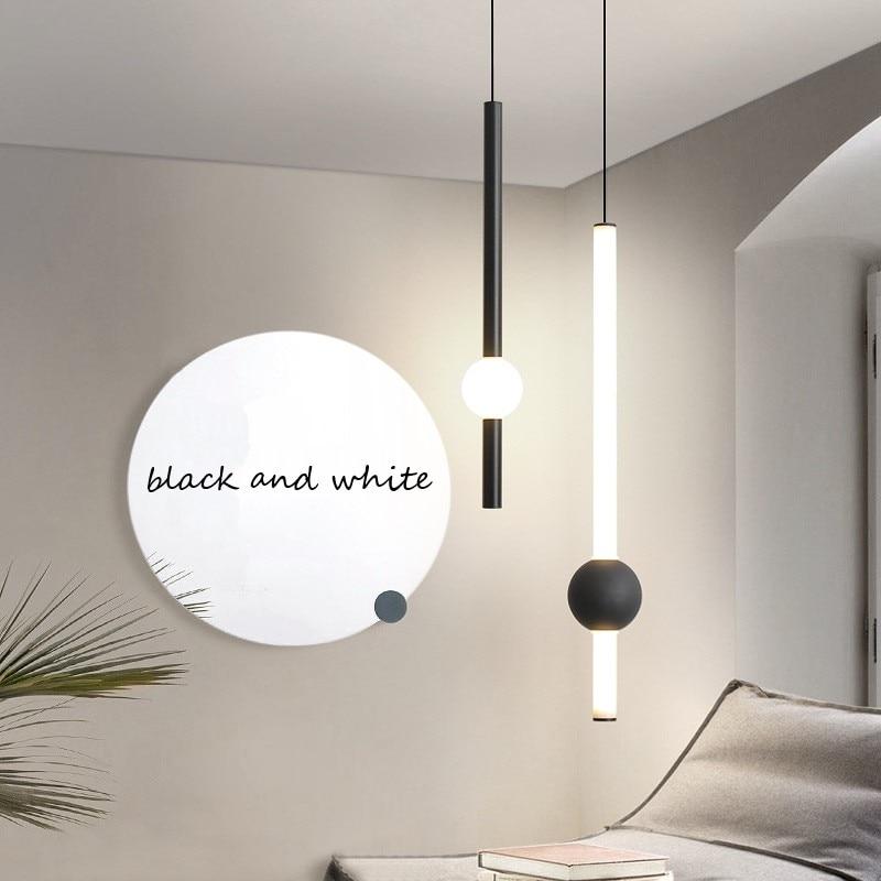 Скандинавский светодиодный подвесной светильник для бара, ресторана, кухни, подвесной светильник, современный простой железный стеклянный...