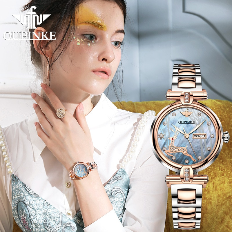 Tide brand ins wind automatic mechanical watch waterproof ladies watch enlarge