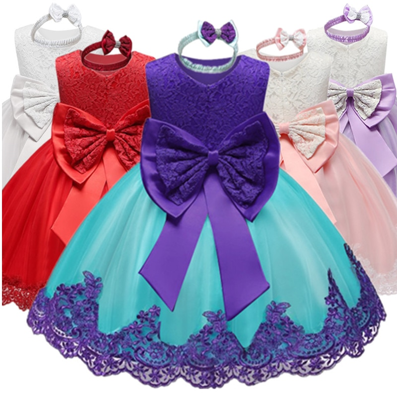 Vestido de niña bebé para 1ª fiesta de Navidad, vestido de princesa infantil, vestidos de boda, bautizo, 1 año de cumpleaños, vestido tutú