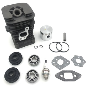 41.1mm Chainsaw Cylinder and Gasket Piston Assy Spark Plug Grooved Ball Bearing Kit for Partner 350 Partner 351