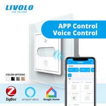 LIVOLO ЕС Стандартный умная розетка, Wi-Fi, Zigbe Скорость ползунковый переключатель, 2 способа вентиляторы Управление, семь передач Скорость, Google ...