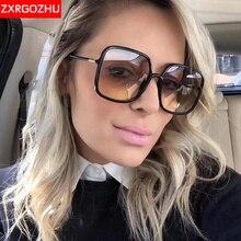 Vintage Square Sunglasses Women Mirror Oversized Shades Luxury Brand Designe Classic Sun glasses Driving oculos de sol feminino
