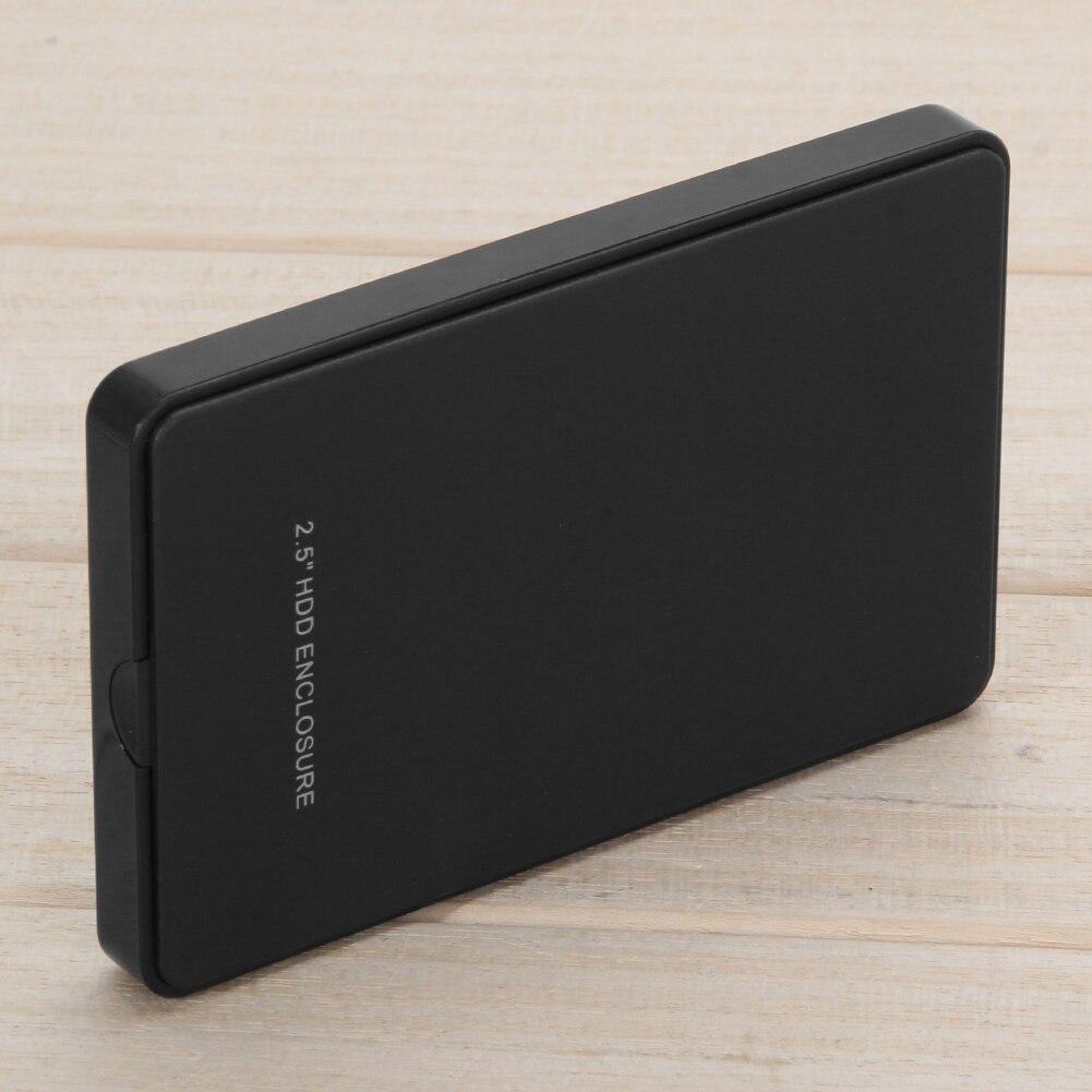 2.5 polegada Disco Caso HDD Caixa Caso Disco Rígido Externo para PC USB 2.0 SATA Externo Mobile Hard Disk Drive SSD gabinete Caixa
