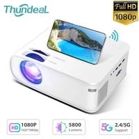 ThundeaL     Mini projecteur Full HD 5G TD93  1080P  LED  wi-fi  compatible HDMI et USB  pour Home cinema