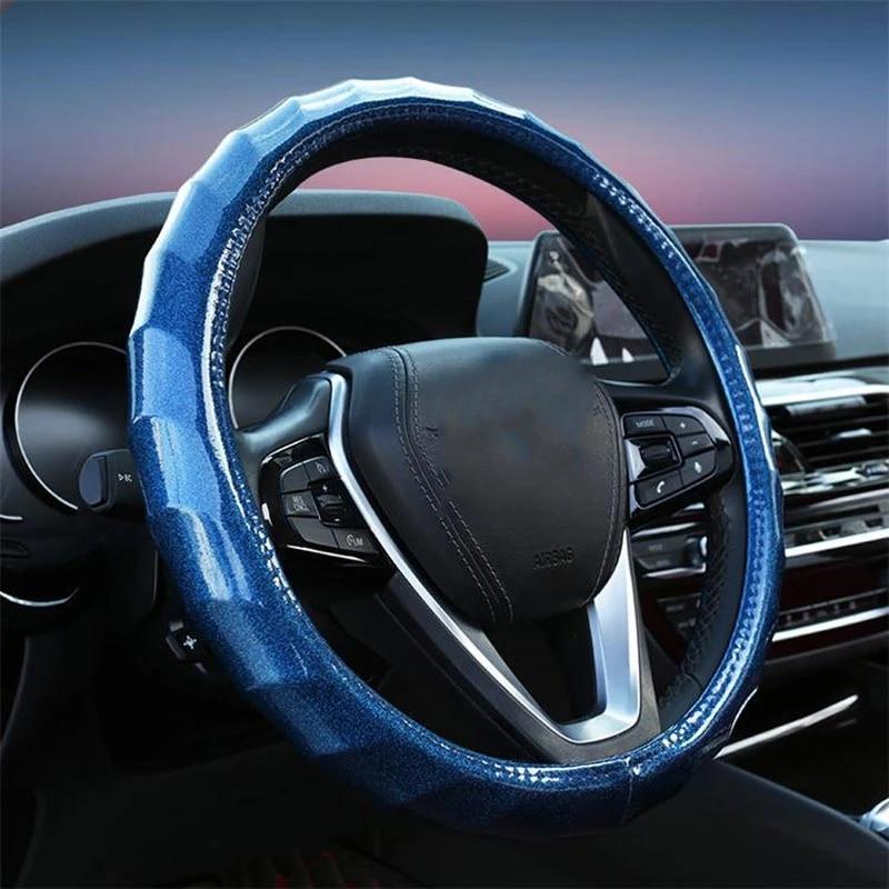 Чехол для руля 38 см нескользящий разноцветный дышащий универсальный автомобильный чехол для руля автомобильные аксессуары интерьер