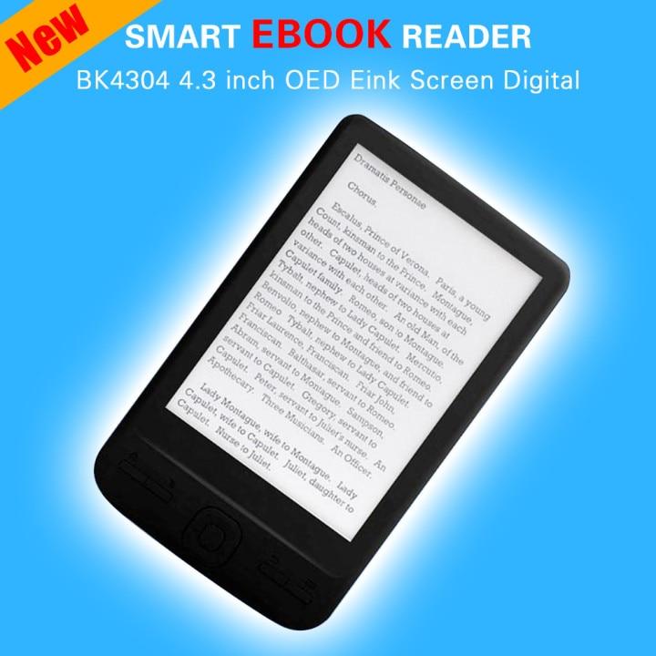 ebook BK4304 4.3 inch OED Eink Screen Digital Smart Reader Electronic Resolution Built-in Front WiFi Books 4 8 16 GB Card Ebook