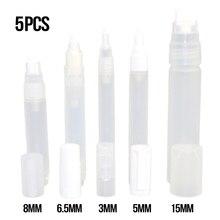 5 pièces en plastique peinture stylo accessoires clair vide tige liquide craie marqueur Graffiti stylos Case fournitures décriture outils dartisanat maison