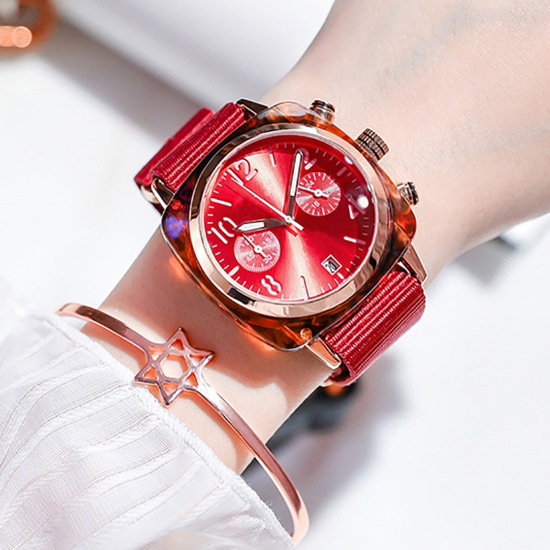 YUNAO Net Red Same Watch Trend New Product 2021 Korean Fashion Creative Canvas Belt Ladies Watch Classic Simple Watch enlarge