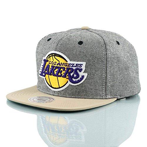 Gorra de Los Ángeles Lakers De Michael & Ness, gorra de mezclilla caqui, gorras de béisbol, gorra para hombres, gorra para mujeres, camionero, hip hop